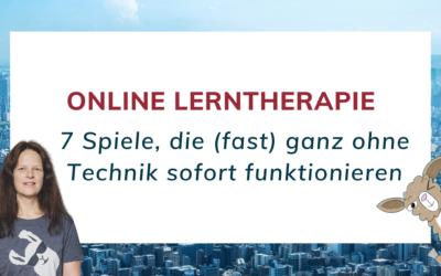 Online Lerntherapie: Welche Spiele eigenen sich?