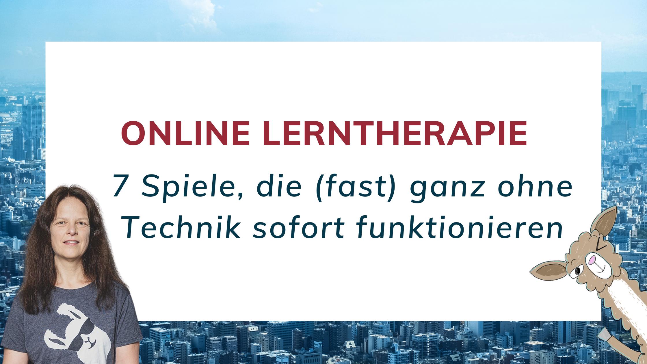 Spiele in der Online Lerntherapie